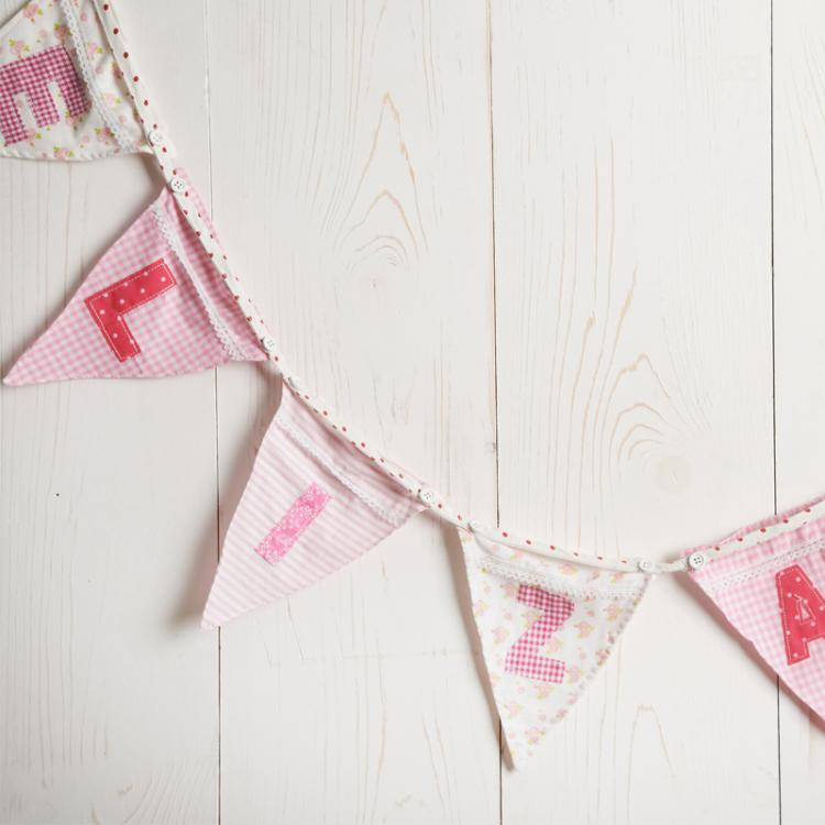 Personalised Pink Name Bunting