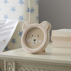 Bear Face Rustic Wood Photo Frame