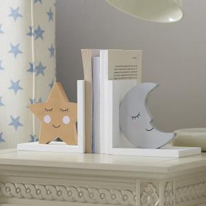 Sweet Dreams Star and Moon Bookends