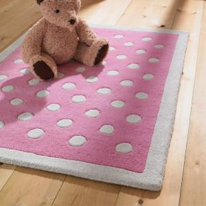 Pink and Cream Dotty Rug