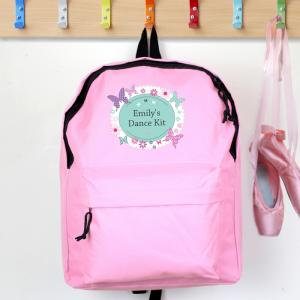 Butterfly Pink Personalised Backpack