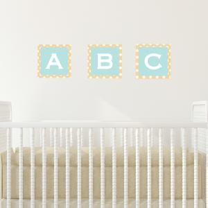 Pastel Jungle Train Abc Wall Sticker
