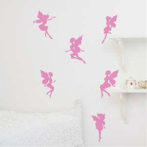 Fairies Magical Set of 6 Wall Stickers