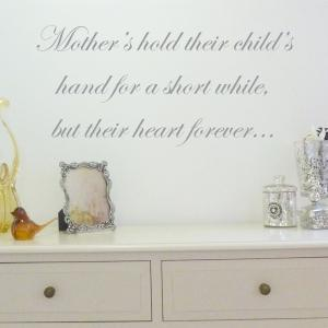 Mothers Hold Their Child's Hand Wall Sticker