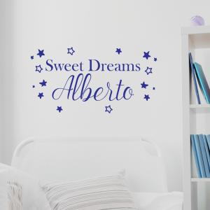 Sweet Dreams Personalised Name Wall Sticker
