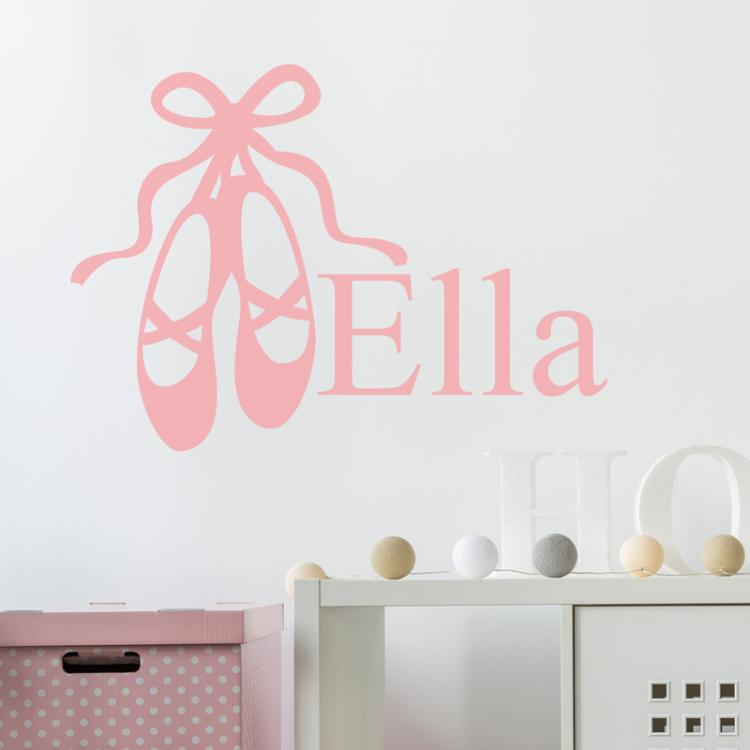Ballet Shoes Personalised Wall Sticker
