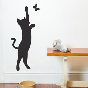 Cat and Butterfly Wall Sticker