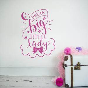 Dream Big Little Lady Wall Sticker