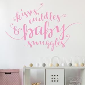 Kisses, Cuddles And Baby Snuggles Wall Sticker