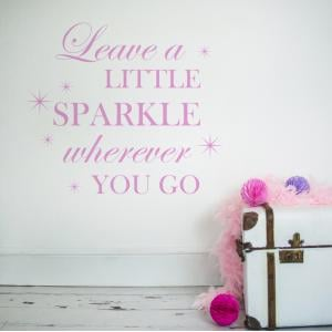 Leave A Little Sparkle Wall Sticker