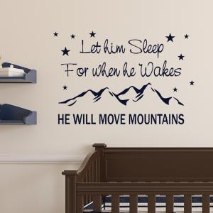 Will Move Mountains Wall Sticker
