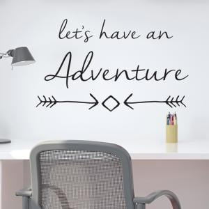 Lets Have An Adventure Wall Sticker
