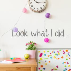 Look What I Did Wall Sticker