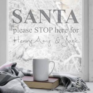 Santa Stop Here Personalised Wall Sticker
