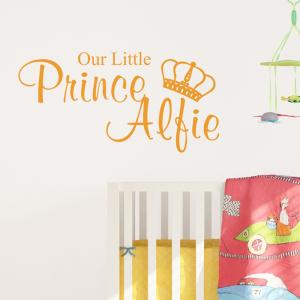 Our Little Prince Wall Art Sticker