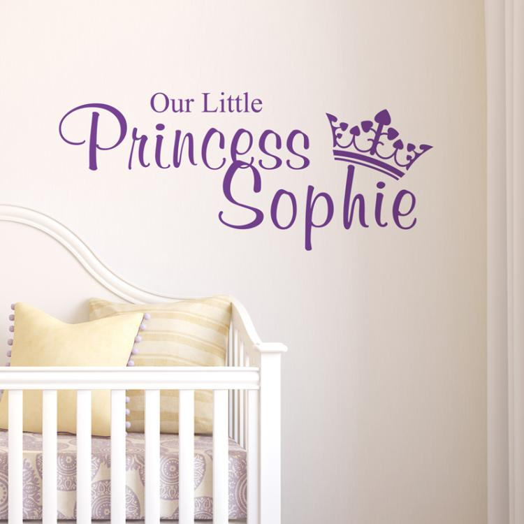 Our Little Princess Wall Art Sticker