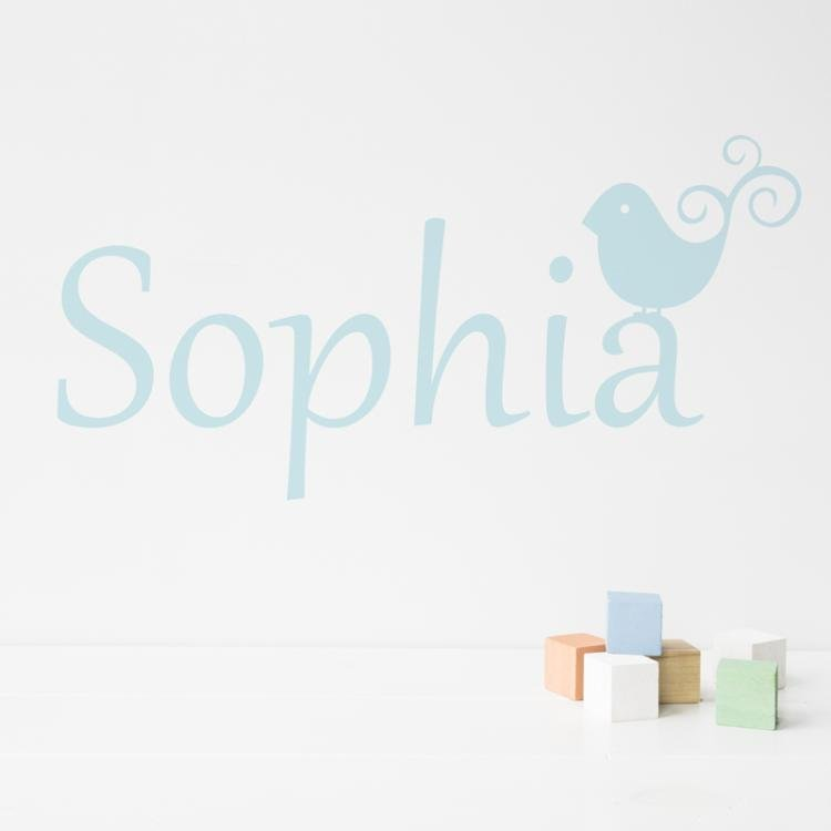 Bird Personalised Name Wall Sticker