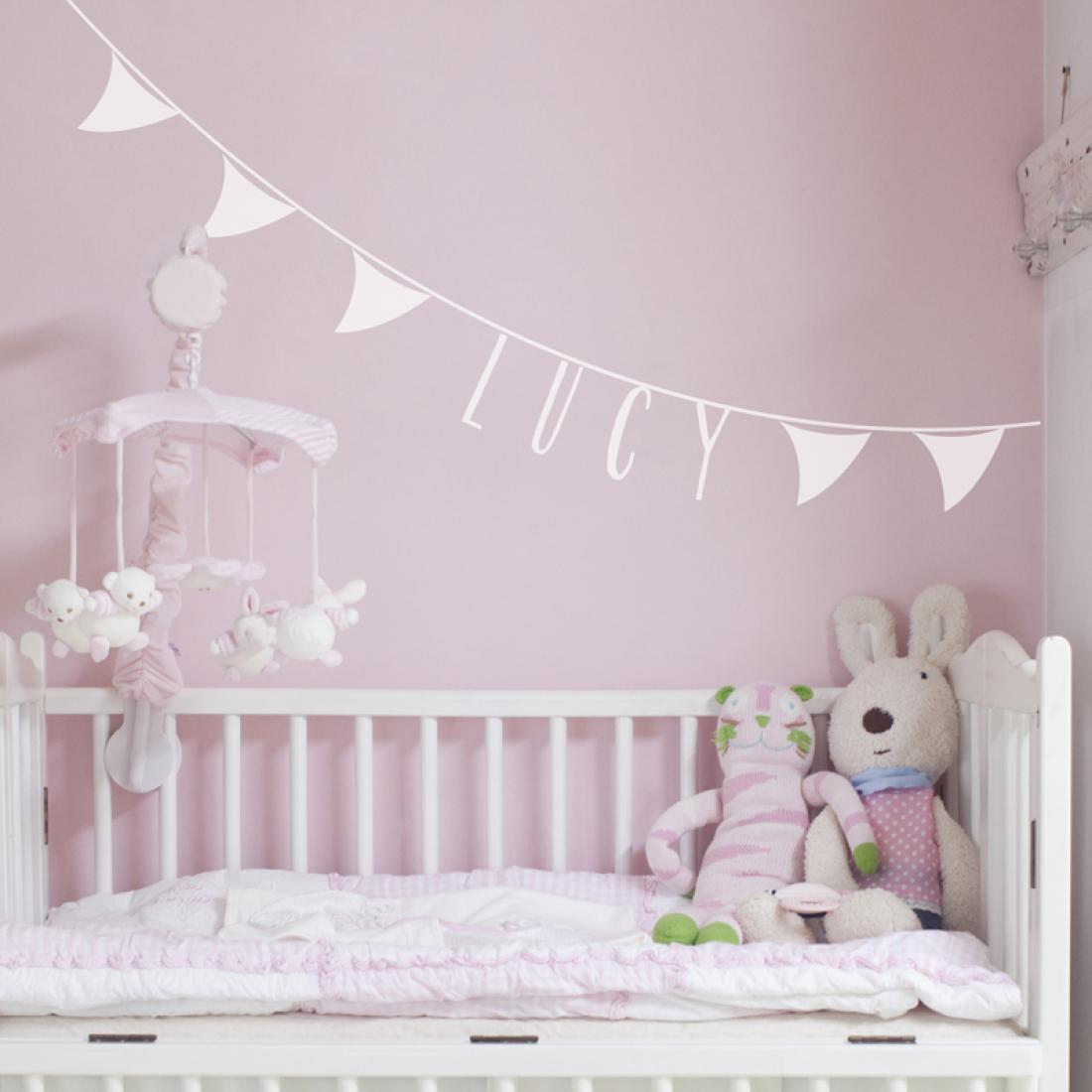 Personalised Name Bunting Wall Sticker