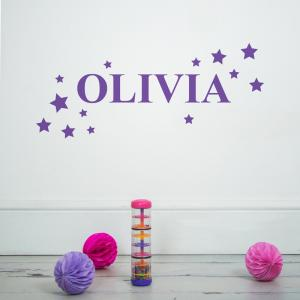 Stars Personalised Name Wall Sticker