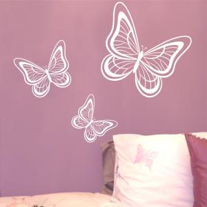 Set of 3 Butterfly Wall Stickers