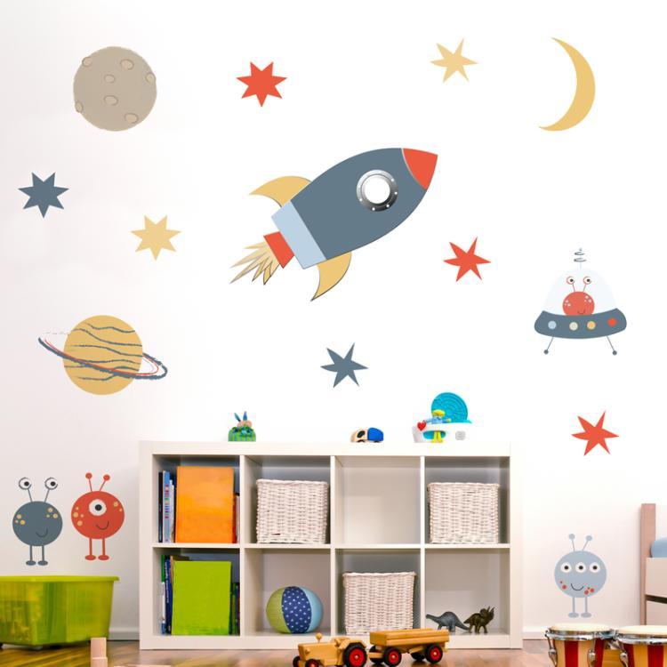 space wall sticker set