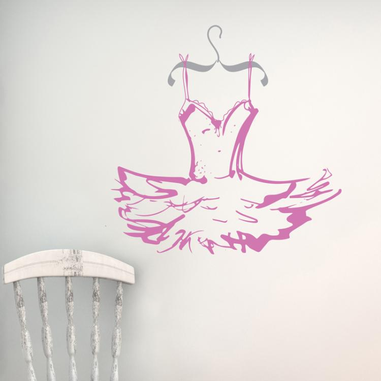 Ballet Tutu Wall Sticker
