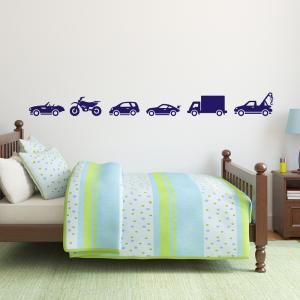 Vehicle Wall Stickers Set