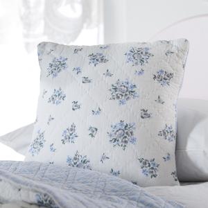 Pale Blue Flowers Cushion Cover
