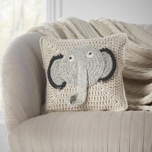 Natural Elephant Cushion Cover