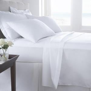 Organic Plain White Cotton Fitted Sheet