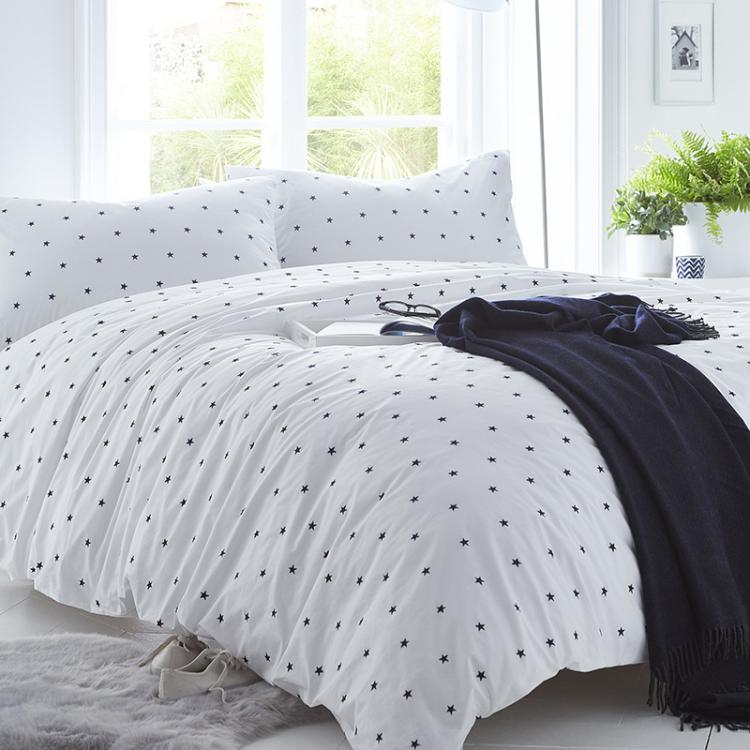 Organic Navy Stars Cotton Duvet Set