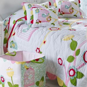 Birdcage Quilted Bedspread