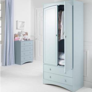 Barney and Boo 2 Drawer Tall Wardrobe