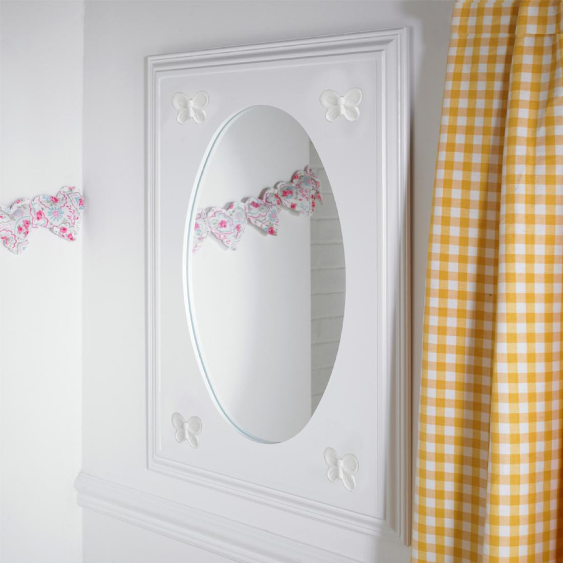 Florence flutterby childrens wall mirror childrens for Mirrors for kids rooms