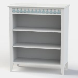 Little Buoy Blue Low Bookcase
