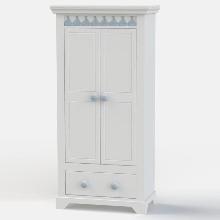 Little Buoy Blue Tall Wardrobe
