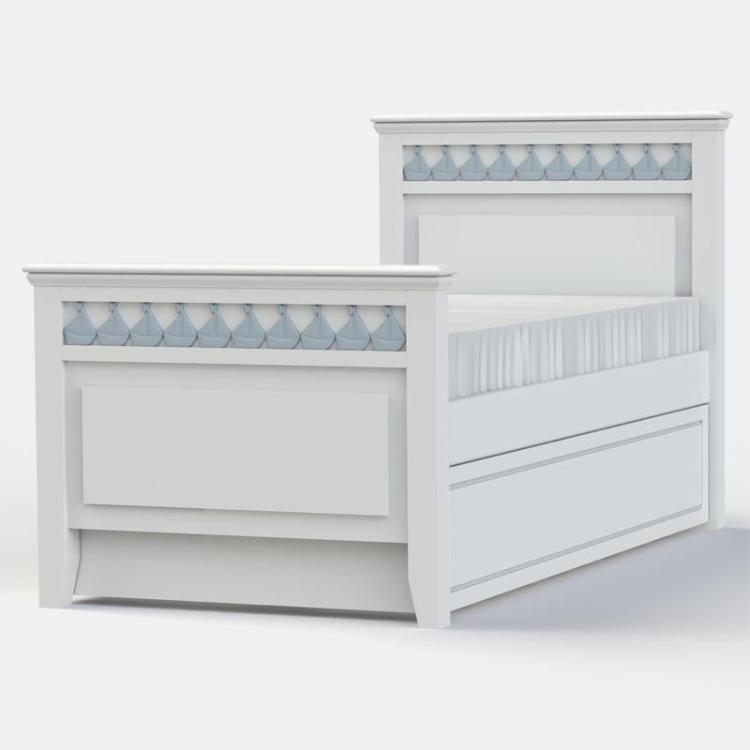 Little Buoy Blue Childrens Truckle Bed