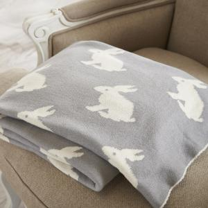 Grey Rabbits Throw