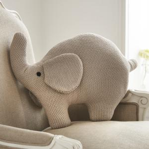 Elephant Knitted Cushion