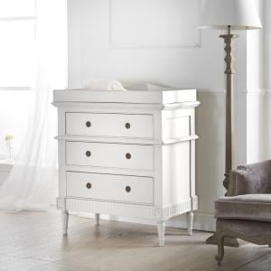 Tilly Ring Handle 3 Drawer Chest with Changing Unit