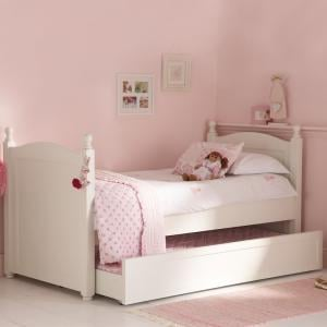 White Truckle Bed
