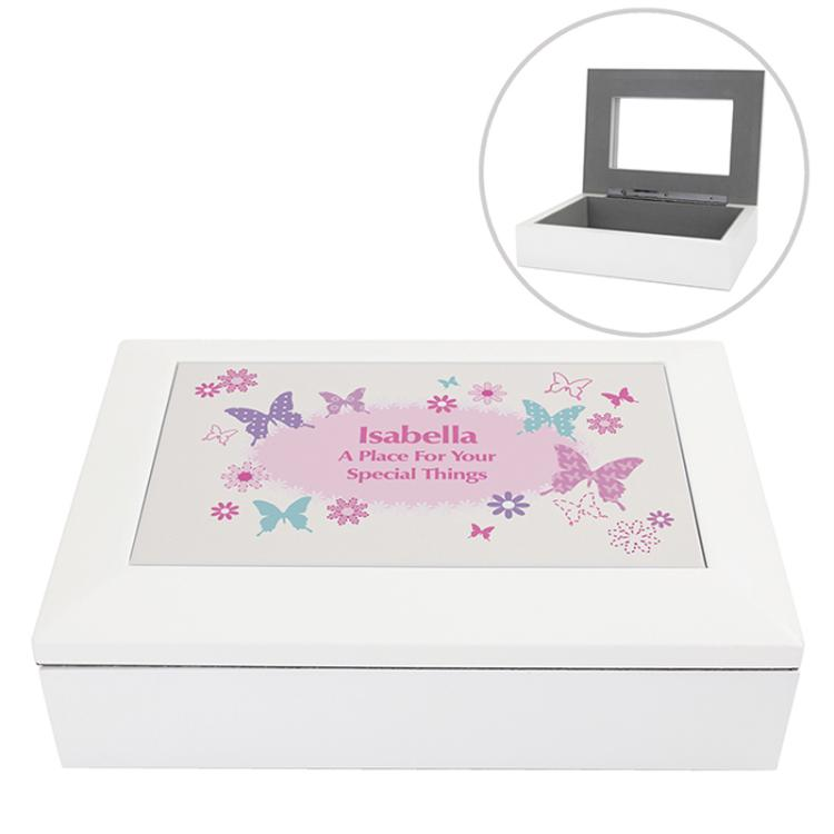 Butterfly Personalised Jewellery Box