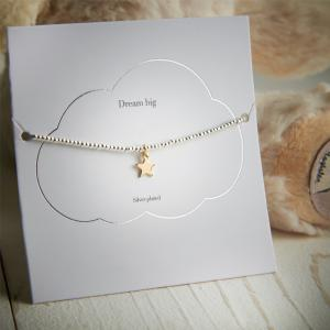 Dream Big Silver and Gold Star Bracelet