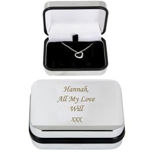 Box With Heart Necklace