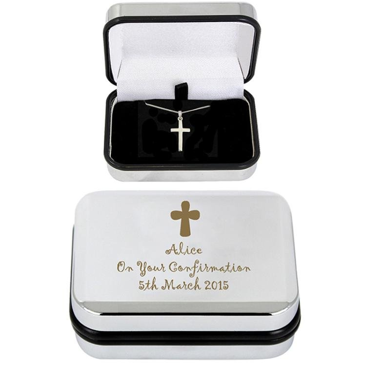 Cross Necklace and Personalised Box
