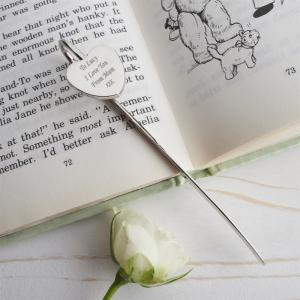 Silver Heart Bookmark