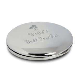 Flower Worlds Best Teacher Compact Mirror
