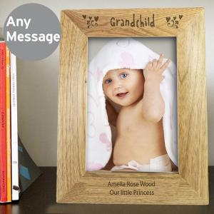Personalised 5x7 Grandchild Wooden Photo Frame