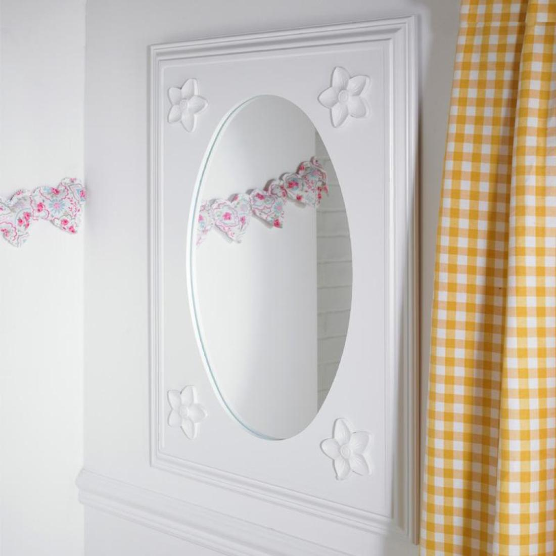 Daisy childrens wall mirror childrens mirror kids bedroom daisy childrens wall mirror amipublicfo Image collections