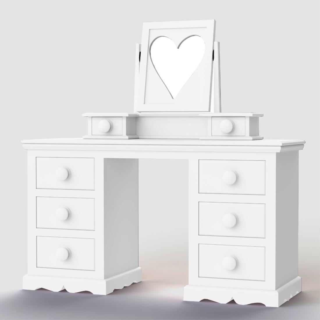 Looby lou large dressing table amp mirror girls dressing table girls bedroom furniture